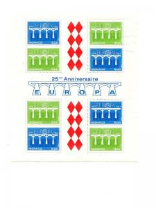 Monaco 1984  Europa sheets Mint VF NH - Lakeshore Philatelics