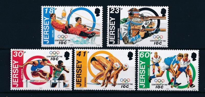 [56397] Jersey 1994 Olympic games Sailing Swimming Hockey MNH