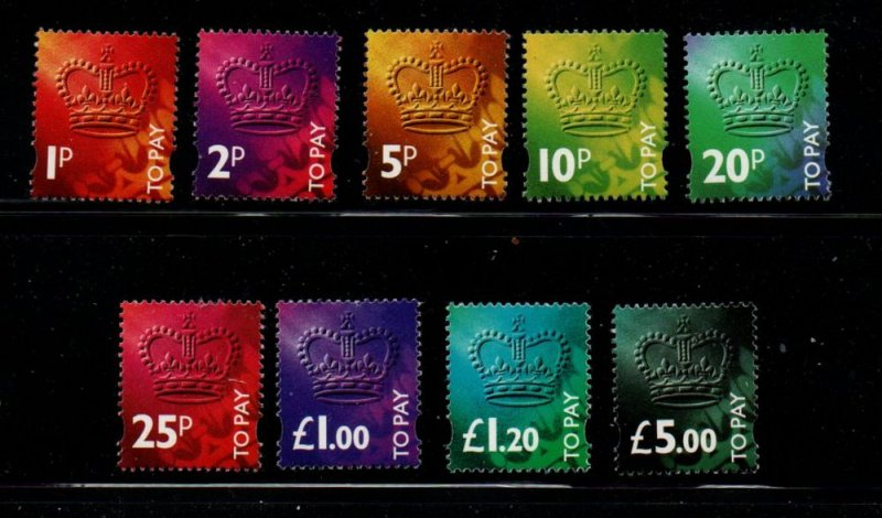 Great Britain Sc J104-J112 1994 Postage Due stamp set mint NH