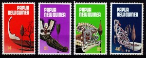 Papua New Guinea 1979 Traditional Canoe Prows and Paddles, Set [Mint]