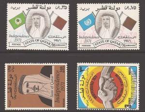 Qatar 275-278 Mint F-VF H