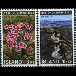 ICELAND 1970 - Scott# 425-6 Flora Set of 2 NH