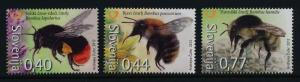 Slovenia 951-3 MNH Bees, Flowers, Insects