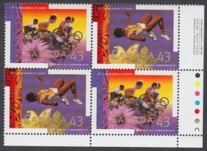 Canada - #1520a XV Commonwealth Games Plate Block - MNH