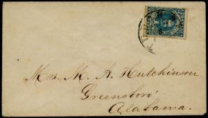 CSA #2 HOYER 4 MARGINS VF TIED BY TUDOR HALL, VA 3-8-1862 CDS CV $250 BQ3729