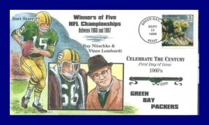 COLLINS HAND PAINTED 3188 Green Bay Packers Vince Lombardi Bart Starr