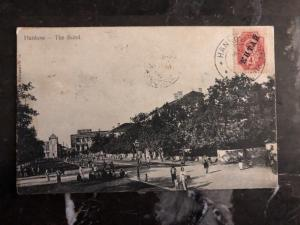 1908 Russian Post Office In Hankow China RPPC Postcard Cover The Bund To Belgium