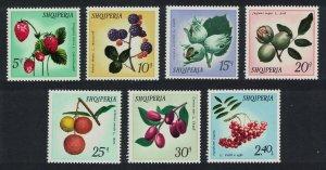 Albania Wild Fruits 7v 1972 MNH SG#1501-1507