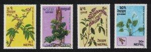 Nepal Herbs Flowers 4v 1980 MNH SG#396-399