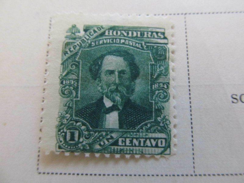 Honduras 1893 1c fine mh* stamp A11P11F18