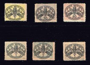 ITALY VATICAN CITY STAMP #J7-12 1931 Postage Stamps MH/OG SET