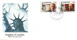 Lesotho 535-536 Statue of Liberty U/A FDC