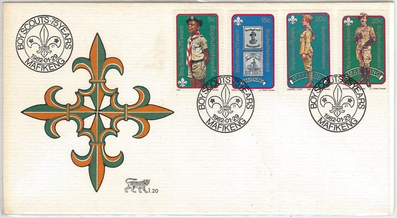BOY SCOUTS --- Bophuthatswana -  POSTAL HISTORY -  FDC COVER 1982