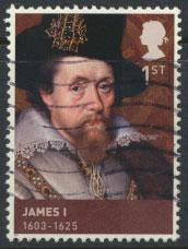 GB  SG 3087 SC# 2807 Kings & Queens  James I  Used