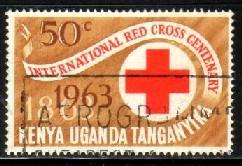 Centenary of Inl. Red Cross, Kenya, Uganda & Tanzania SC#143 used