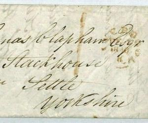 GB Liverpool UPP *1* Cover 1840 STACKHOUSE Yorks Mourning Letter {samwells}CT165