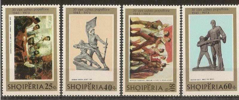 Albania 1973 Peoples Army SG1597-1600 MNH