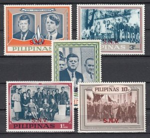 Philippines, 1968 Cinderella issue. Pres. Kennedy issue with S.N.V o/print. ^
