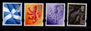 Great Britain Scotland Sc 20-23 2003  2nd, 1st, E& 68p stamp set mint NH