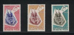 Upper Volta 71 - 73 - Tribal Antelope. Set Of 3. MNH. OG.   #02 UPPER71s3