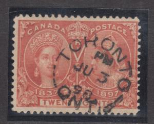 Canada #59 Used Fine With Ideal June 3 1898 CDS Cancel
