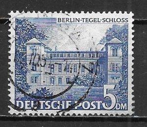 Germany Berlin 9N60 5m Tegel Castle single Used (z5)