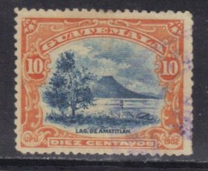 GUATEMALA  SC# 118 **USED** 10c  1902   SEE SCAN