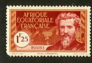 FRENCH EQUATORIAL AFRICA 59 MH SCV $2.40 BIN $1.10 PERSON