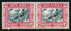 South Africa SG76 1d 1938 Voortrekker M/Mint (vertical gum bend)