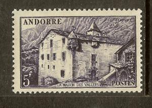 Andorra, Scott #118, 5fr LaMaison des Vallees, MH