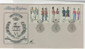 Ciskei 1983 Military Uniforms Multiple  Stamps Cover ref R 18029