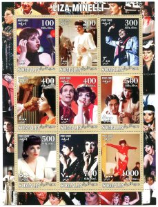 Somalia 2002 LIZA MINELLI American Actress Sheet Perforated Mint (NH)