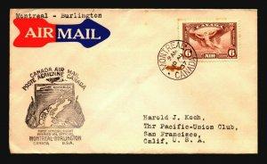 Canada 1937 FFC Montreal to Burlington - Z17512