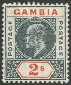 GAMBIA-1902 2/- Deep Slate & Orange Sg 54 MOUNTED MINT V46470