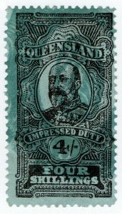 (I.B) Australia - Queensland Revenue : Impressed Duty 4/-