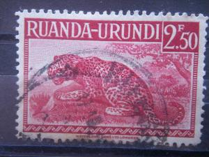 RUANDA URUNDI, 1942, used 2.50, Scott 81
