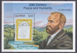 1993 Guyana 4220/B285 Nobel Prize laureates
