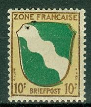 Germany - Allied Occupation - French Zone - Scott 4N5 MNH (SP)