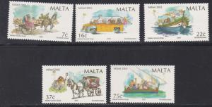 Malta # 1097-1101, Christmas Scenes, NH, 1/2 Cat.