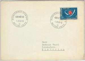 57799 -  NUCLEAR ENERGY -  SWITZERLAND - POSTAL HISTORY: POSTMARK  on COVER 1958