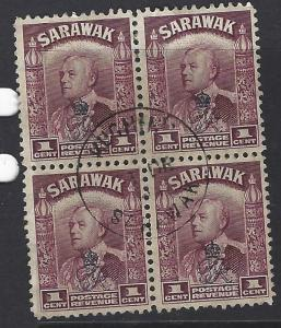 SARAWAK (P1209B) 1C   SG 130 BL OF 4  KUCHING CDS   VFU