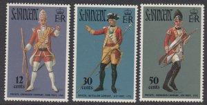 St Vincent 330-2 Military Uniforms mnh