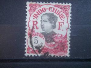 INDO-CHINA, 1922, used 5c, Girl  Scott 102