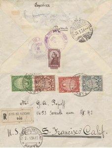 1933 Vatican, Vatican City, Year Santo N°15/18 Complete Series Su Letter Via