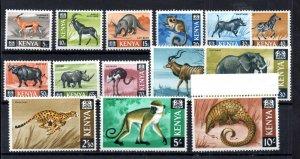 Kenya 1966-71 Animals LHM Part Set to 10/- (14V) WS16003