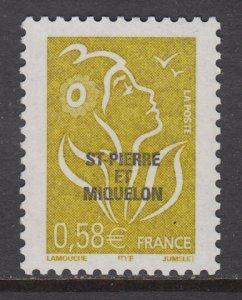 St Pierre and Miquelon 789 MNH VF