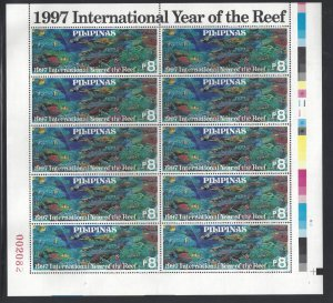 STAMP STATION PERTH Philippines #2497 Int'l Year of the Reef MNH Sheet of 10