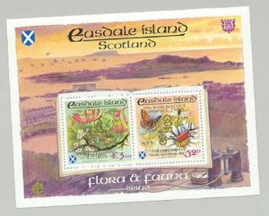 Easdale (Br Local) 1998 Scouts Double Gold o/p Butterflies, Insects 1v M/S of 2