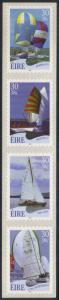 Ireland #1339a MNH strip of sailboats