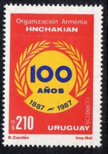 ARMENIA ORGANIZATION HNCHAKIAN 100 ANIVERSARY URUGUAY Sc#1280 MNH STAMP
